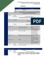 Programa Del 1Coloquio Regional