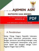 Manajemen ASN Kepala BKPSDMD