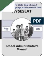 2019 NYSESLAT School Administrator's Manual