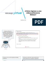 ¿Cómo Ingreso a Una Videoconferencia Webex?
