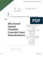 Hilo dental espinal (también conocido como- neurodinámica) - Yin yoga