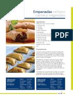 Empanadas Relleno Carnes y Vegetales