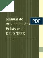 Manual de Atividades Dos Bolsistas Da EaD