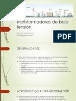 Transformadores de Baja Tensión1111