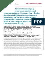 cardiac arrhytmia in emergency room