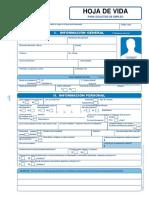 X3 Formato Hoja de Vida Mivfz su jjvg3 PDF