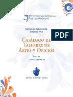 1326 Catalogo Artes 2019 UACJ