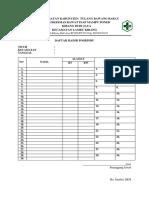 Daftar Hadir Posbindu