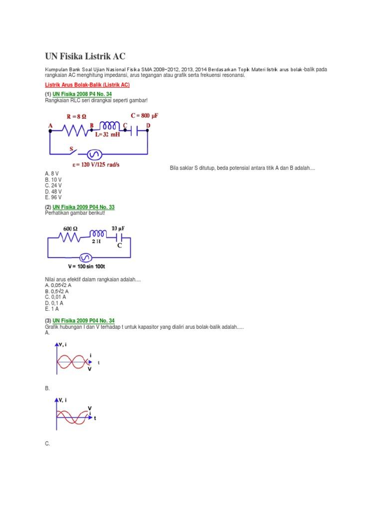 Un Fisika Listrik Ac