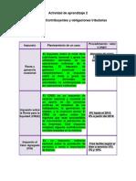 Evidencia- Contribuyentes y Obligaciones Tributarias