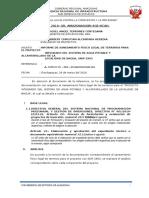 Informe de Saneamiento Fisico Legal de Terrenos Para El Proyecto Snip