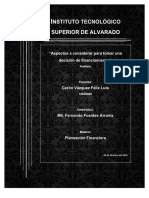 Analisis de Decision de Financiamiento