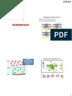 Aula 3a - Biomembranas - Transporte Ativo