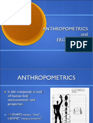4 Anthropometrics Pdf Chair Anthropometry