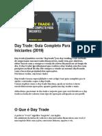 Day Trade - Guia Completo Para Iniciantes (2019)