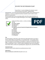 ISEF Research Plan Sample