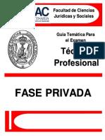 Guía Temática Examen Privado