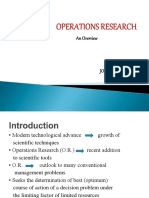 Operations Research Introduction