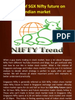 Impact of SGX Nifty Future on Indian Market
