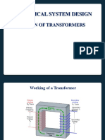 Electrical system design of transformer