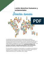 Diferencias Entre Derechos Humanos y Derechos Fundamentales