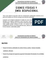 Condiciones Físicas y Ergonomía Ocupacional