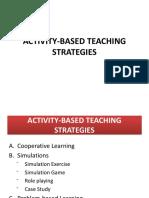 Activity Based Teaching Strategies