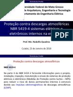 Proteção Contra 23-Descargas Atmosféricas NBR 5419-4 Sistemas Elétricos e Eletrônicos Internos Na Estrutura