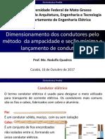 5-Dimensionamento Dos Condutores Pelo Método Da Ampacidade e Seção Mínima e Lançamento de Condutores