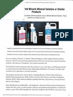 FDA Warning on Mms