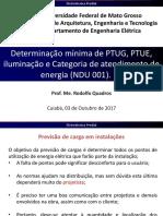 2-Determinação Mínima de PTUG, PTE, Iluminação e Categoria de Atendimento de Energia (NDU 001)
