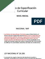 Niveles de Especificación Curricular PPII