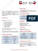 Aluminium Alloy 1100 Data Sheet
