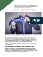 Cara Membuat Dasi