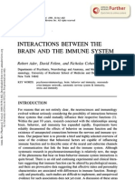 Interactions Between the Brain and the Immune System