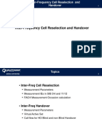 Interfreq HO and Cell Reselect