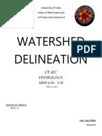 WATERSEHD DELINEATION - SOLIJON &.docx