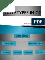 Datatypes in c#