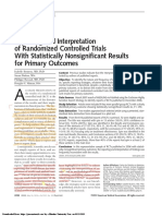 Reporting and interpretation of randomized controlled trials with statistically nonsignificant results for primary outcomes.