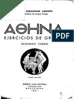 Berenguer Amenos, Jaime - Athena Ejercicios de Griego Segundo Curso