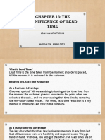 Chapter 13- Significance of Lead Time