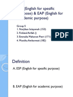 Esp(English for Spesific Purpose) & Eap Ambar Jihan Emma Firda