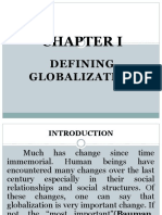 CHAPTER I-Introduction to the Study of Globalization