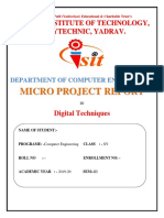 Report for light detector using nand gate