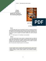 A Lepreuve d'Une Analyse en Groupequand Des Chercheurs Deviennent Participants