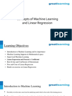 Machine Learning and Linear Regression