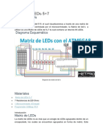 Matriz led 5x7