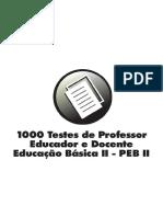 100 TESTES PARA PEB II.pdf