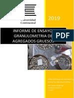 Informe de Ensayo Granulometria de Agregado Grueso
