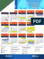 Calendario USB 2019-2020